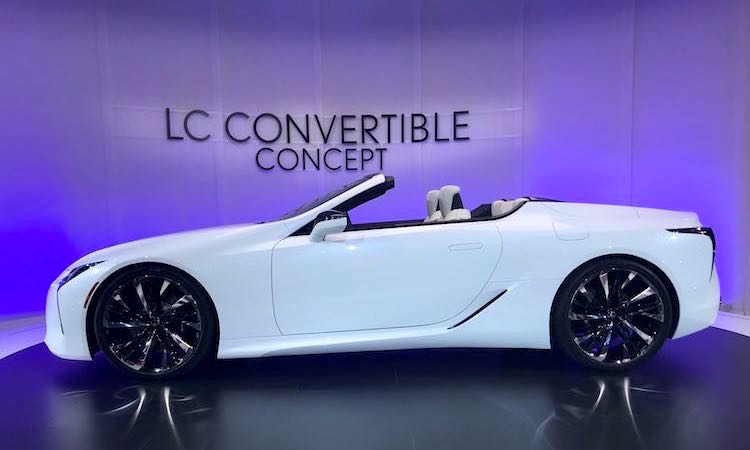 The Hog Ring - Haartz Corporation Tops NAIAS - Lexus LC Convertible Concept