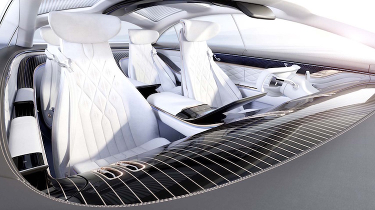 The Hog Ring - Mercedes-Benz Vision EQS Headliners Made from plastic ocean waste
