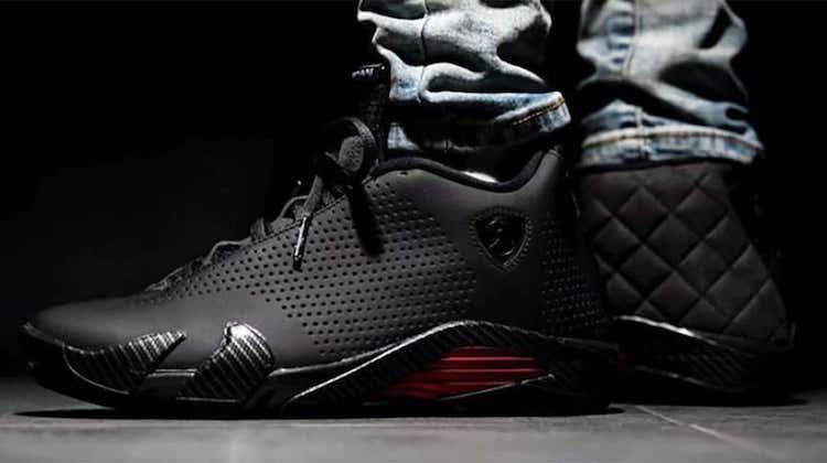 The Hog Ring - These Nike Sneakers Were Inspired by Car Interiors - Air Jordan Black Ferrari