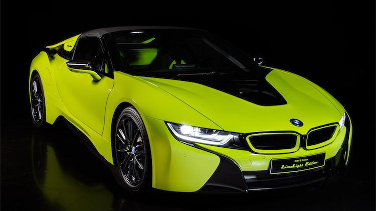 The Hog Ring - Alcantara Unveils its BMW i8 Roadster LimeLight