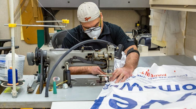 The Hog Ring - GM Trimmers are Sewing Medical Gowns for Health Care Workers