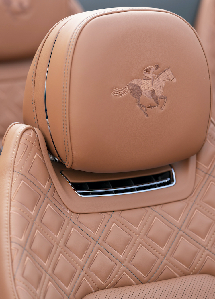 The Hog Ring - Bentley Triple Diamond Seats are Beautiful