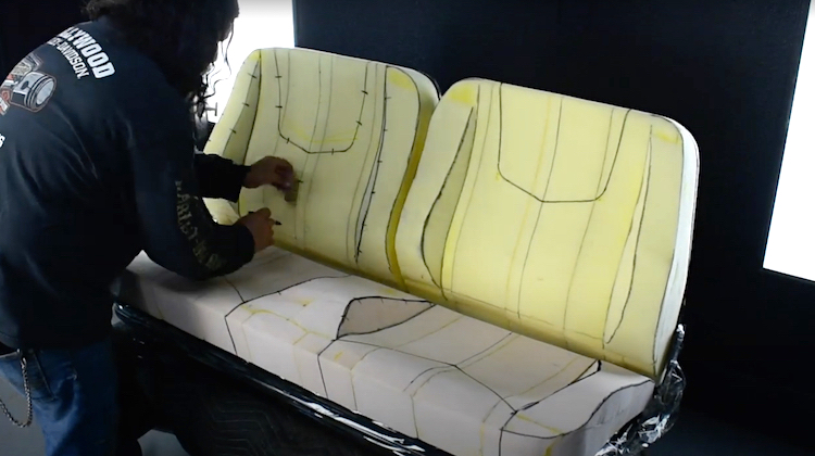 The Hog Ring - Watch Alchemy Kustom Upholster a Bench Seat