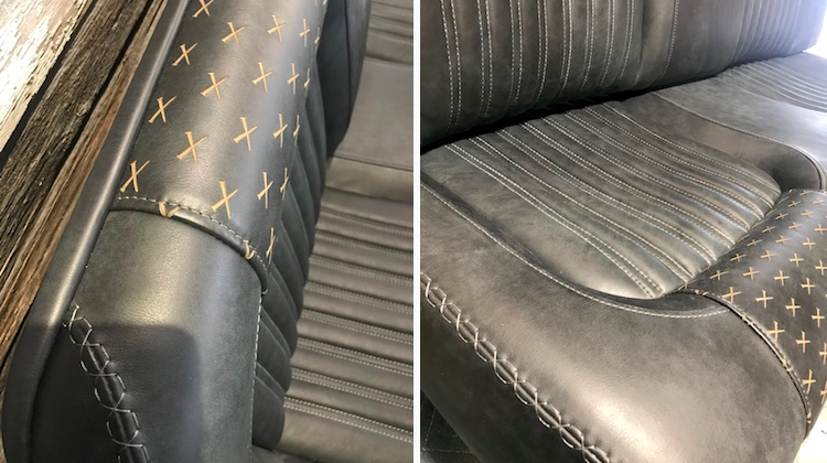 The Hog Ring - Recovery Room Nailed this Bench Seat Design