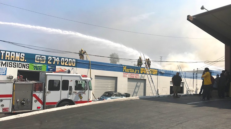 The Hog Ring - Explosion and Fire Damage California Trim Shop