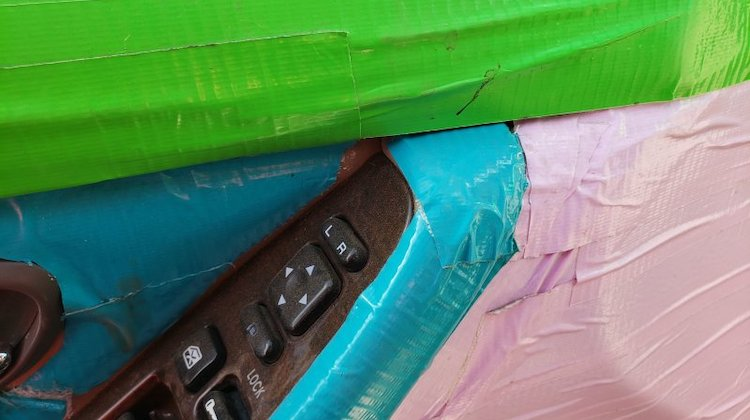 The Hog Ring - This Duct Tape Upholstery Repair is Horrible