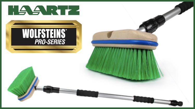 The Hog Ring - Wolfsteins Introduces New Haartz-Endorsed Telescopic Top Brush