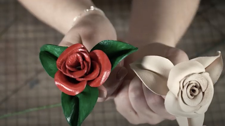 The Hog Ring - Make Valentine's Day Roses from Leather