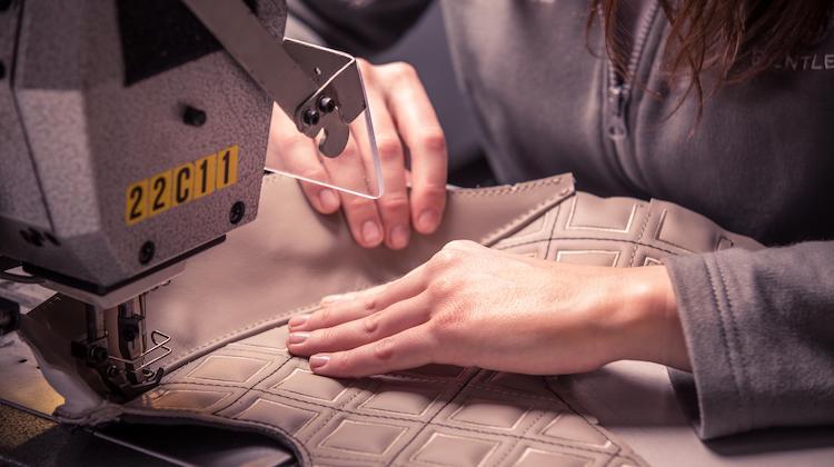 The Hog Ring - These Pleats Take 712 Stitches Per Diamond