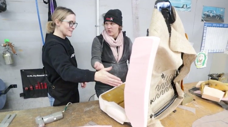 The Hog Ring - Meet the Ladies of Napier Auto Upholstery
