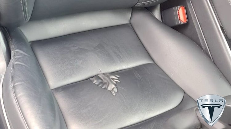 The Hog Ring - Tesla Vegan Leather is Starting to Bubble